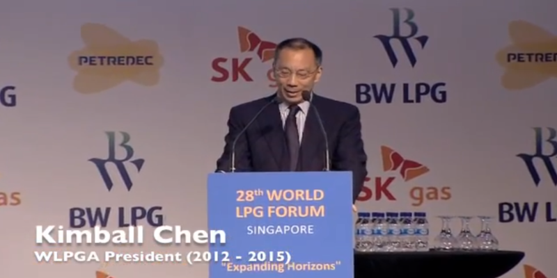 Welcome Remarks by Kimball Chen at the 28th World LPG Forum