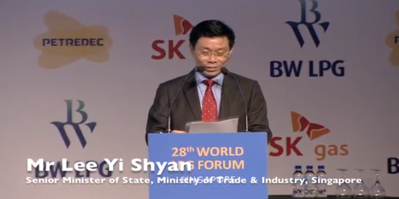 Mr Lee Yi Shyan, Senior Minister of State Singapore – Keynote Adress at the 28th World LPG Forum
