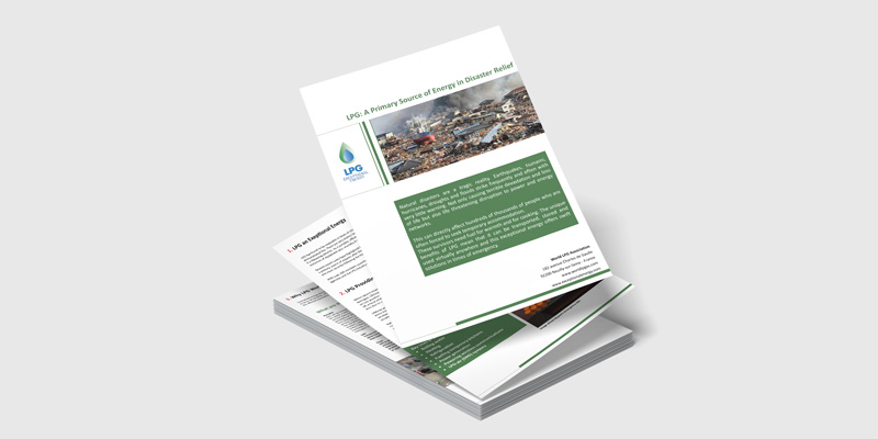 LPG: A Primary Source of Energy in Disaster Relief
